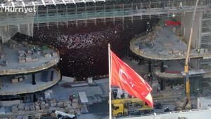 Yeni AKM inşaatında son durum havadan görüntülendi