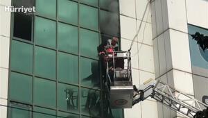 Şanlıurfada bir otelde yangın çıktı