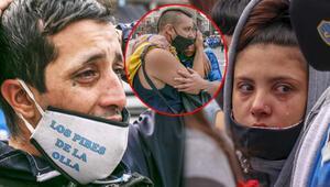 Son Dakika | Arjantinde binlerce insan Maradonaya veda ediyor...