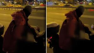 Görüntüler sosyal medyada büyük tepki çekmişti Motosiklet üzerindeki iğrenç olayda flaş gelişme