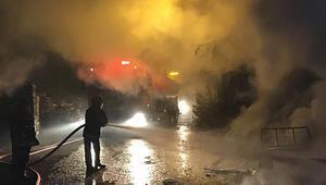 Ankarada korku dolu anlar Ev yanıp kül oldu