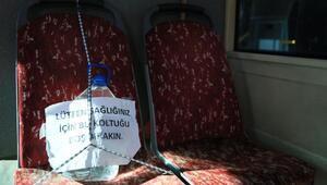 Otobüste böyle önlem aldı