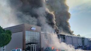 Son dakika: Balıkesirde fabrikada korkutan yangın