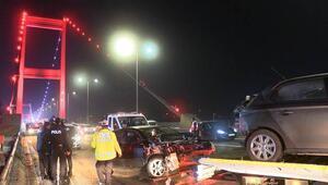 FSM Köprüsü çıkışı korkunç kaza Yaralılar var