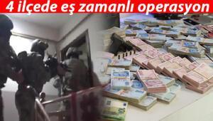 İstanbulda eş zamanlı operasyon Hepsi ele geçirildi