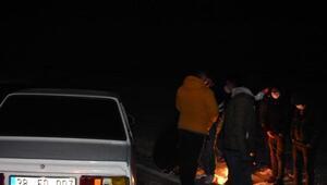 Yasak saatinde otomobil yarışı için buluşan 63 kişiye ceza
