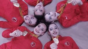 Son Dakika | Türkiye, Kadın Ritmik Cimnastik dalında Avrupa şampiyonu oldu