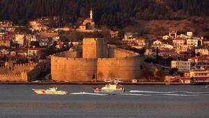 Bulgaristan devriye gemisi Krajmorje Çanakkale Boğazından geçti