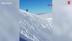 ABDde kayakçılar çığ altında kalmaktan son anda kurtuldu