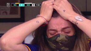 Babası olmadan ilk kez maça gitti Diego Maradonanın kızı Dalma Maradonanın en zor maçı