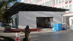 Samsunda Covid-19 tedavisi için hastaneye ek bina yapılıyor