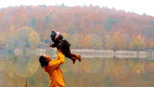 Düzcedeki Kurugöl Tabiat Parkı renk cümbüşüyle büyülüyor
