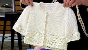 Zincir işi süslemeli bebek takımı nasıl yapılır