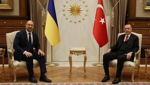Cumhurbaşkanı Erdoğan, Ukrayna Başbakanı Shmyhalı kabul etti