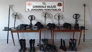 Çanakkalede kaçak kazı operasyonu: 17 gözaltı