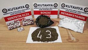 Kütahya'da uyuşturucu operasyonu: 4 gözaltı