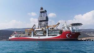 Kanuni sondaj gemisinin kule dikimi yapıldı