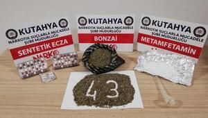 Kütahya'da uyuşturucu operasyonuna 4 gözaltı