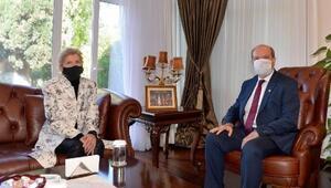 KKTC Cumhurbaşkanı Tatar, BM Genel Sekteri Özel Temsilcisi Jane Lute ile görüştü