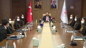 Gençlik ve Spor Bakanı Mehmet Muharrem Kasapoğlu, Ritmik Cimnastik Milli Takımını kabul etti