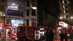 Taksimde korkutan otel yangını
