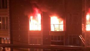Son dakika... Esenyurtta yangın sırasında dairede patlama