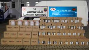 Çanakkalede bin 225 litre kaçak etil alkol ele geçirildi