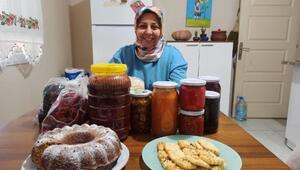 Kadın girişimci, yaptığı doğal ürünleri satıp, ev ekonomisine katkı sağlıyor