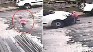 3 yaşındaki Ayşenin hayatını kaybettiği kazada sürücü kaçtı Dehşet anları kamerada