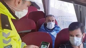 Nurdağı'nda, yolcu otobüslerinde HES kodu denetimi