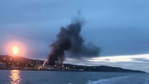 Norveçte petrol tesisinde yangın