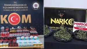 İzmir'de uyuşturucu ve cinsel içerikli ürün operasyonu: Gözaltılar var