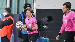 Şampiyonlar Liginde tarihi gece İlk kez kadın hakem...
