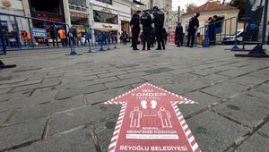 İstiklal Caddesinde 7000 kişi kuralı başladı