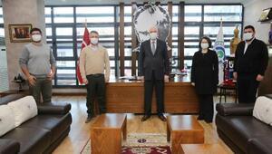 İMO'dan Başkan Kurt'a deprem ziyareti