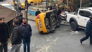Son dakika... Şişlide feci kaza Taksi 30 metre sürüklendi
