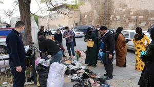 Suriyelilerin satış yaptığı pazar, tedbirlere uyulmayınca kaldırıldı