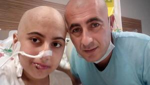 Antalyada lösemi hastası kızı için saçını kazıttı