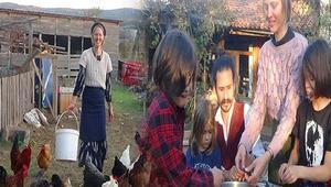 Amerikadan Kaz Dağlarına... Ailecek köy yaşamı sürüyorlar