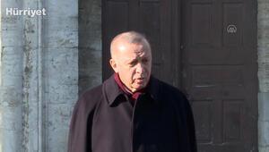 Cumhurbaşkanı Erdoğan, Cuma namazı sonrasında açıklamalarda bulundu