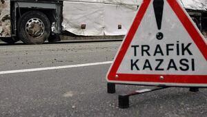 Otomobil kamyonla çarpıştı: 1 ölü, 5 yaralı