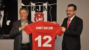 Traktör ve Machine Sazi başkanlarından, Beşiktaş Kulübü Başkanı Çebiye ziyaret