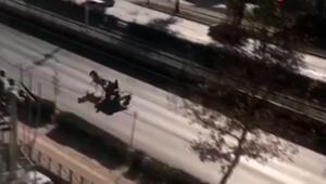 Bursada at arabalı hırsız dehşet saçtı