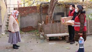 Sultanbeyli Kaymakamlığından yaşlılara gıda kolisi yardımı