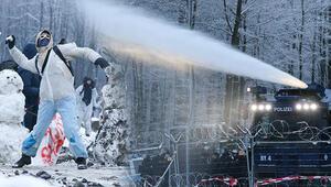 Çevrecilerin kar topuna tazyikli suyu