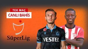 Süper Ligde 11. maç gününü Trabzonda noktalıyoruz Sivasspora verilen iddaa oranı...