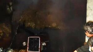 Ferizlide samanlık yandı