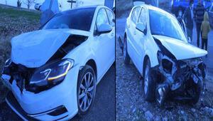 Adıyamanda otomobiller çarpıştı: 5 yaralı