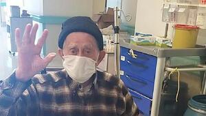 96 yaşında koronavirüsü yendi, alkışlarla taburcu oldu