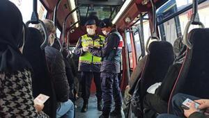 Sultanbeylide jandarmadan şehirlerarası otobüs ve toplu taşıma araçlarına denetim